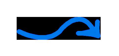 Pfeil blau zeigt auf Screen AMS Finanz automatischer Kontoauszug