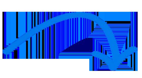 blauer Pfeil zeigt auf Screen mit AMS SalesManager Software