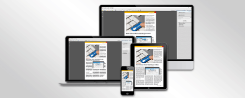 Diverse Medien bilden Artikel aus Fachpresse zu AMS Archiv Software ab